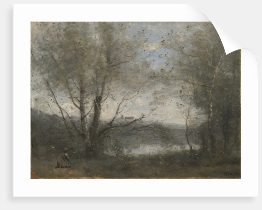 A Pond Seen Through the Trees by Jean Baptiste Camille Corot