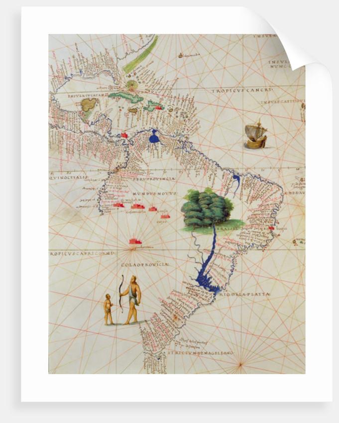South America by Battista Agnese
