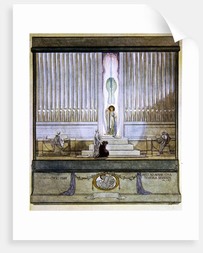 Illustration from Dante's 'Divine Comedy', Purgatory, Canto IX: 127 by Franz von Bayros
