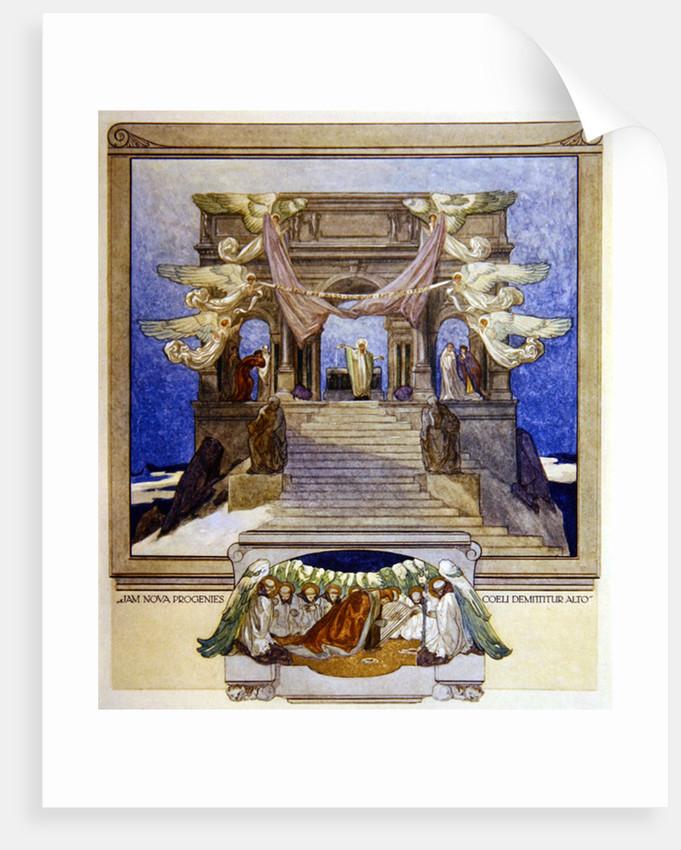 Illustration from Dante's 'Divine Comedy', Purgatory by Franz von Bayros