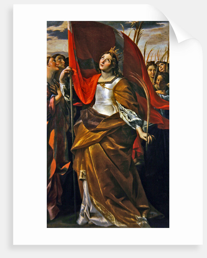St. Ursula and the virgins by Giovanni Lanfranco