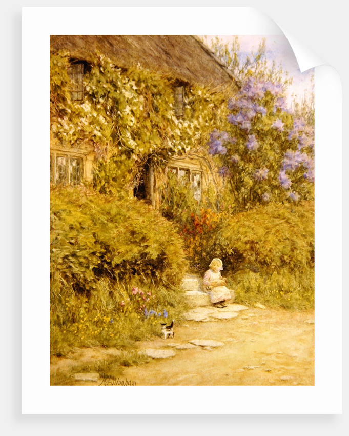 A cottage near Crewkerne by Helen Allingham