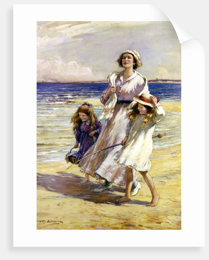 A Breezy Day at the Seaside by William Kay Blacklock