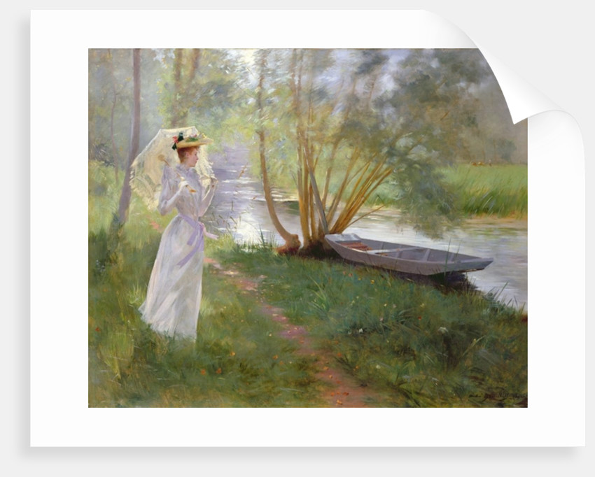 A walk by the river by Pierre Andre Brouillet