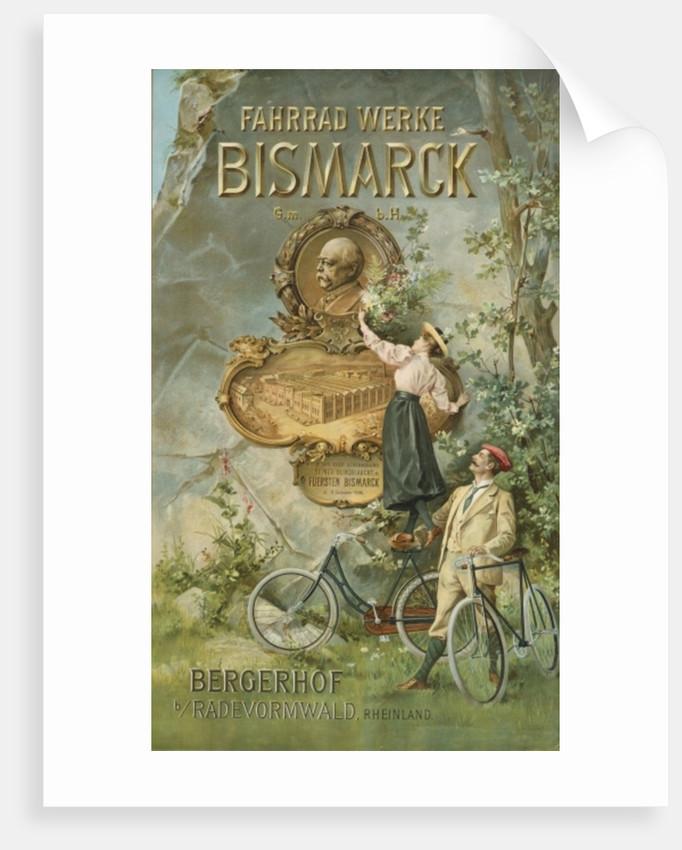 Poster advertising the Fahrrad Werke Bismarck by Unknown