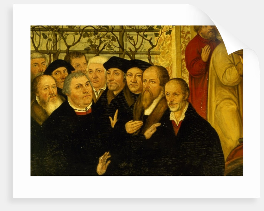 Epitaph of Meienburg's Mayor showing the reformers' group with Martin Luther by Lucas