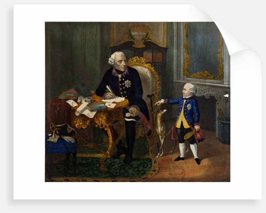 Frederick the Great and his Grandnephew by German School