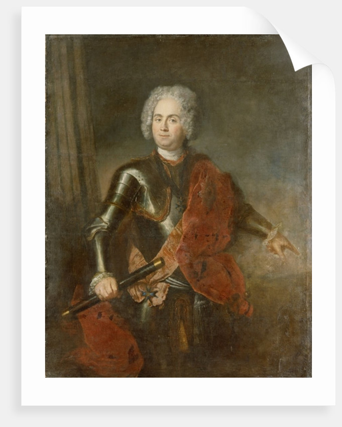 Graf von Schwerin by Antoine Pesne