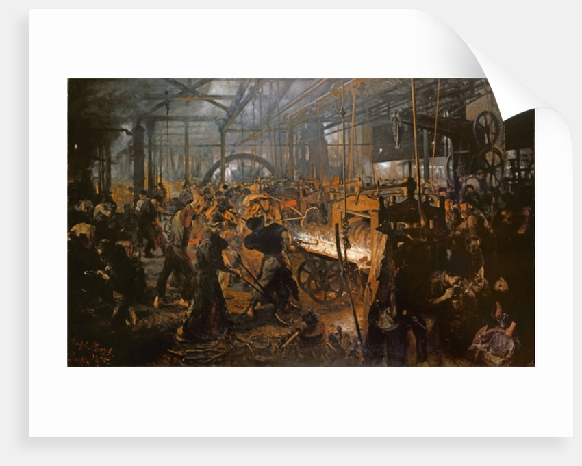The Iron-Rolling Mill by Adolph Friedrich Erdmann von Menzel