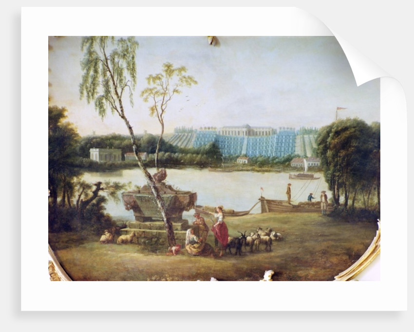 Construction of the terraces at Schloss Sanssouci by Carl Sylva Dubois
