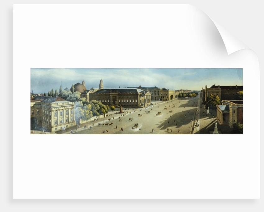 Unter den Linden from the Armoury by F. von Laer