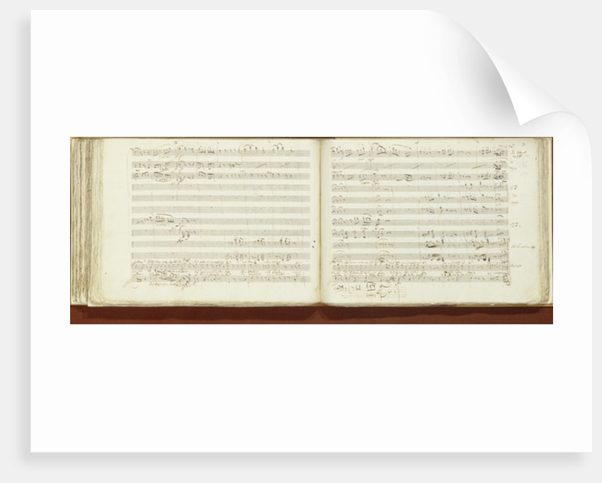 Autograph copy of 'The Magic Flute' by Wolfgang Amadeus Mozart