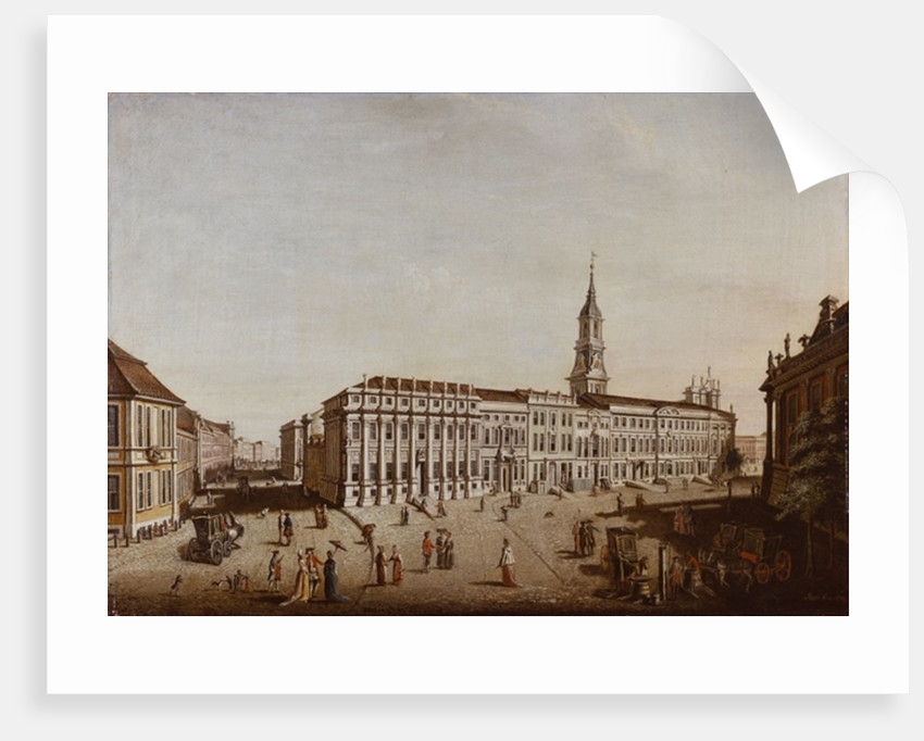 View of Castle Street and the Fiaker Square, Potsdam by Johann Friedrich Meyer