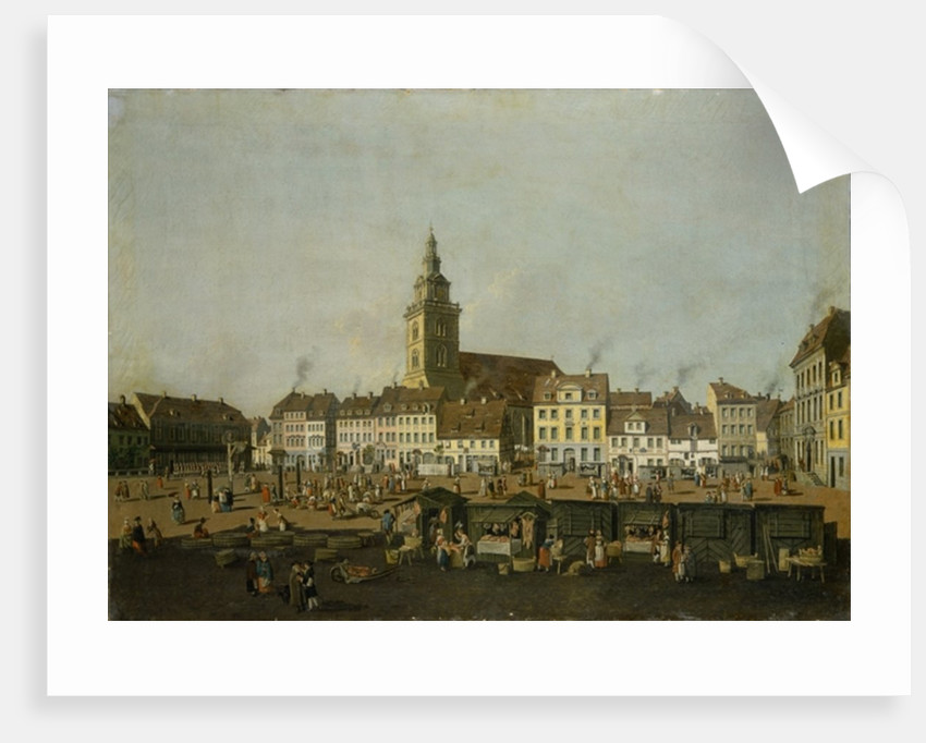 View of the Neue Markt with St. Mary's Church, Berlin by Karl Friedrich Fechhelm