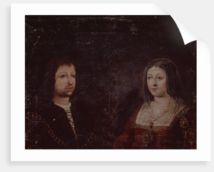 Ferdinand II of Aragon and Isabella I of Castile by Spanish School
