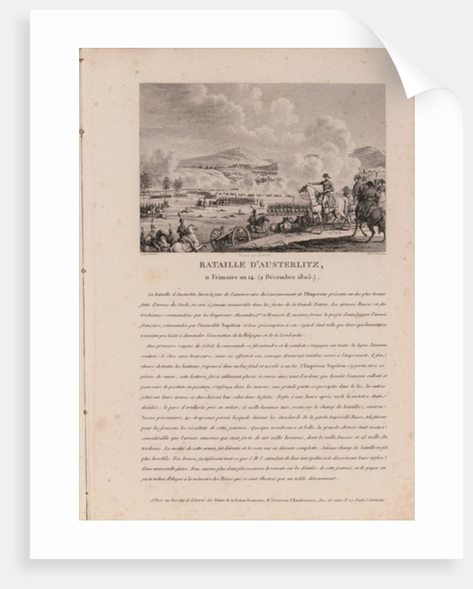 The Battle of Austerlitz by French School