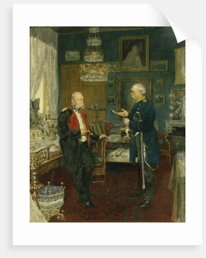 Bismarck with Emperor Wilhelm I by Konrad Siemenroth