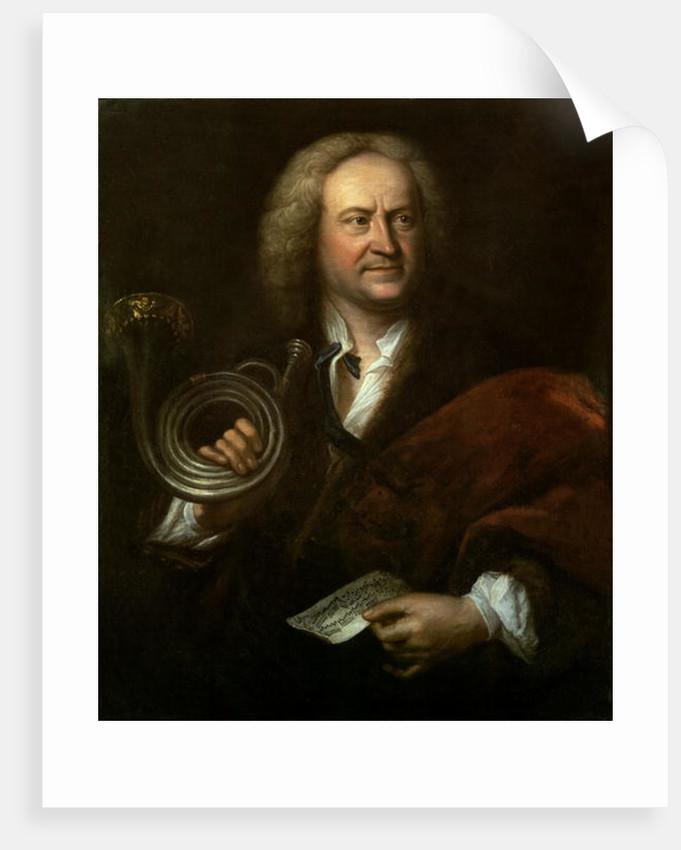 Gottfried Reiche, Senior Musician and Solo Trumpeter of Bach's Orchestra by Elias Gottleib Haussmann