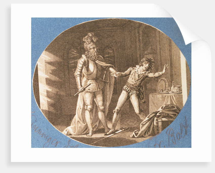 Don Giovanni and the statue of the Commandantore that has come to life by Austrian School