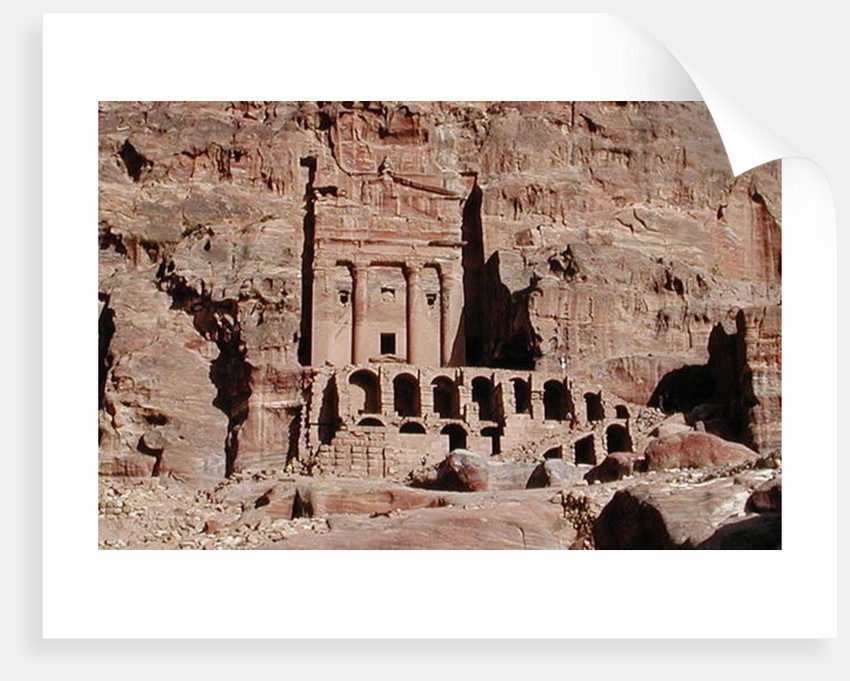 Rock tombs by Nabatean