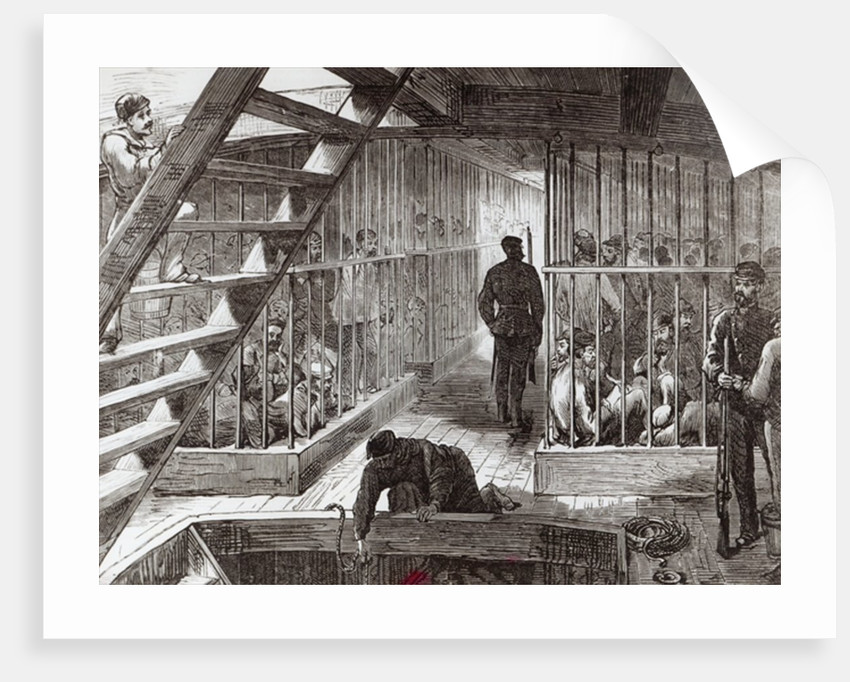 Caged prisoners on route to Botany Bay by English School