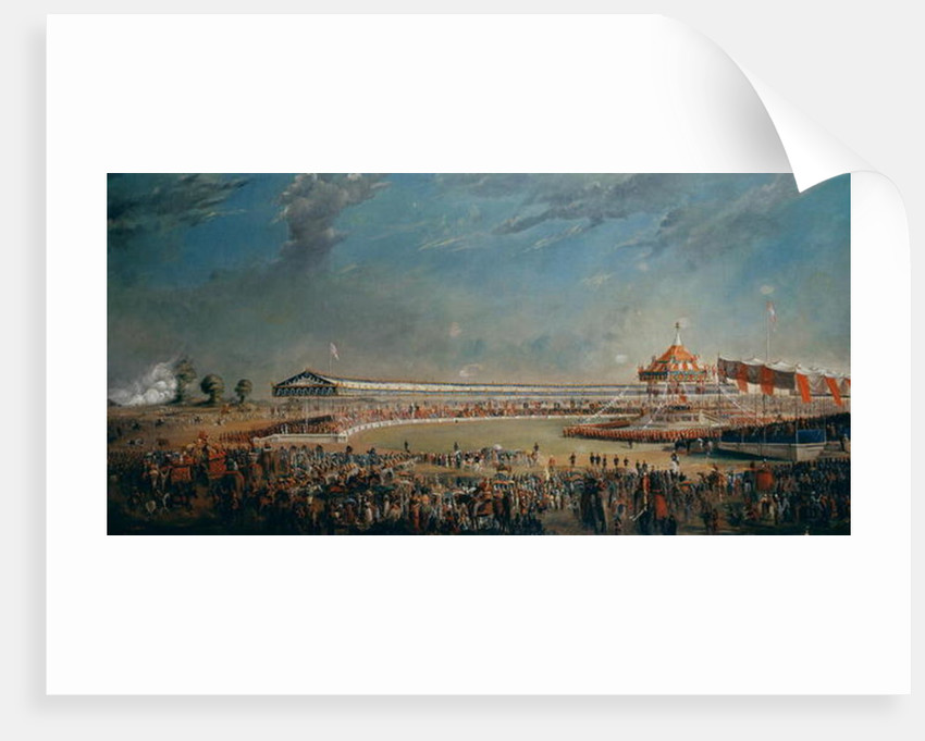 Delhi Durbar, celebration on the occasion of Queen Victoria becoming Empress of India by Alexander Caddy