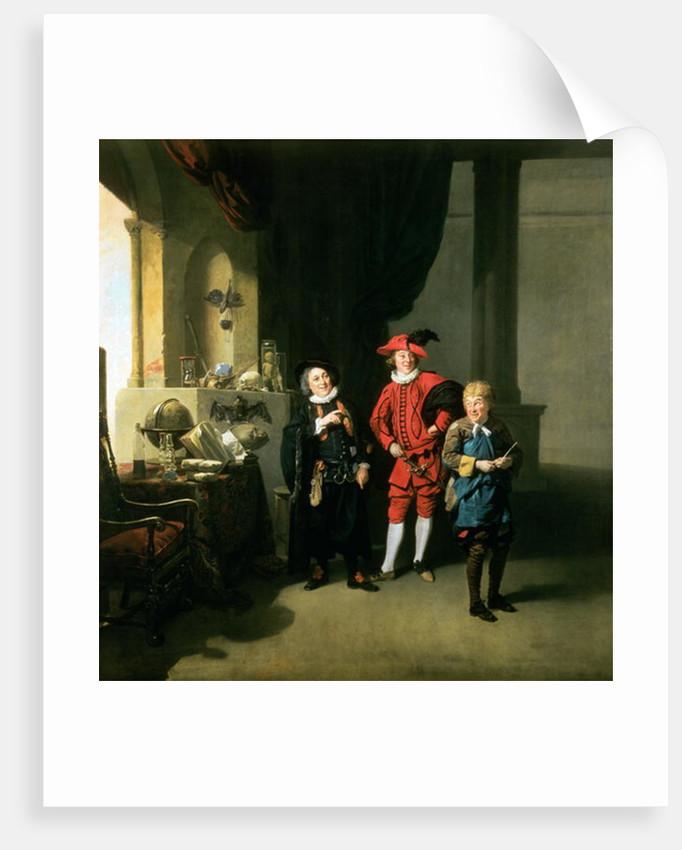 David Garrick with William Burton and John Palmer in 'The Alchemist' by Ben Jonson by Johann Zoffany
