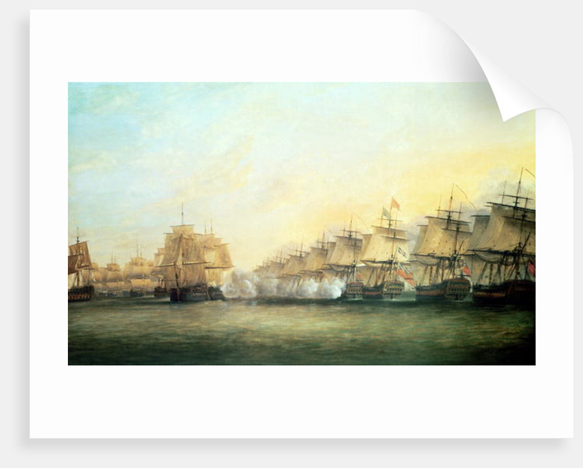 The fourth action off Trincomalee between the English under Admiral Sir Edward Hughes and the French under M. de Suffren by Dominic Serres