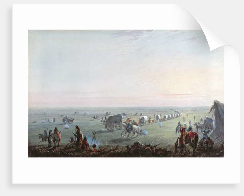 Breaking Up Camp at Sunrise by Alfred Jacob Miller