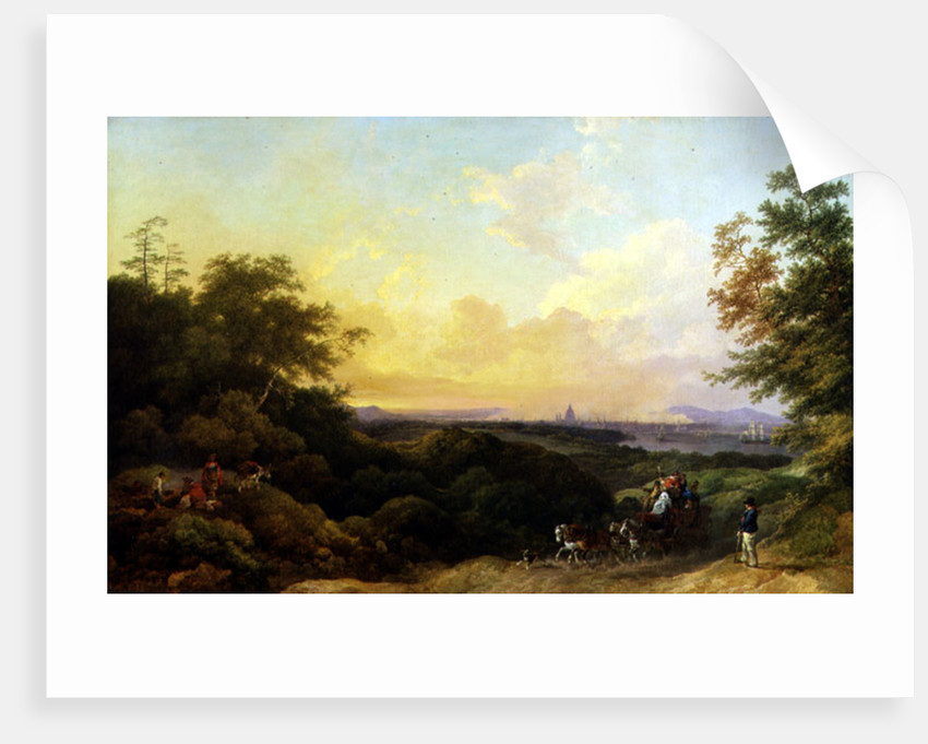 The Evening Coach, London from Greenwich by Philip James de Loutherbourg