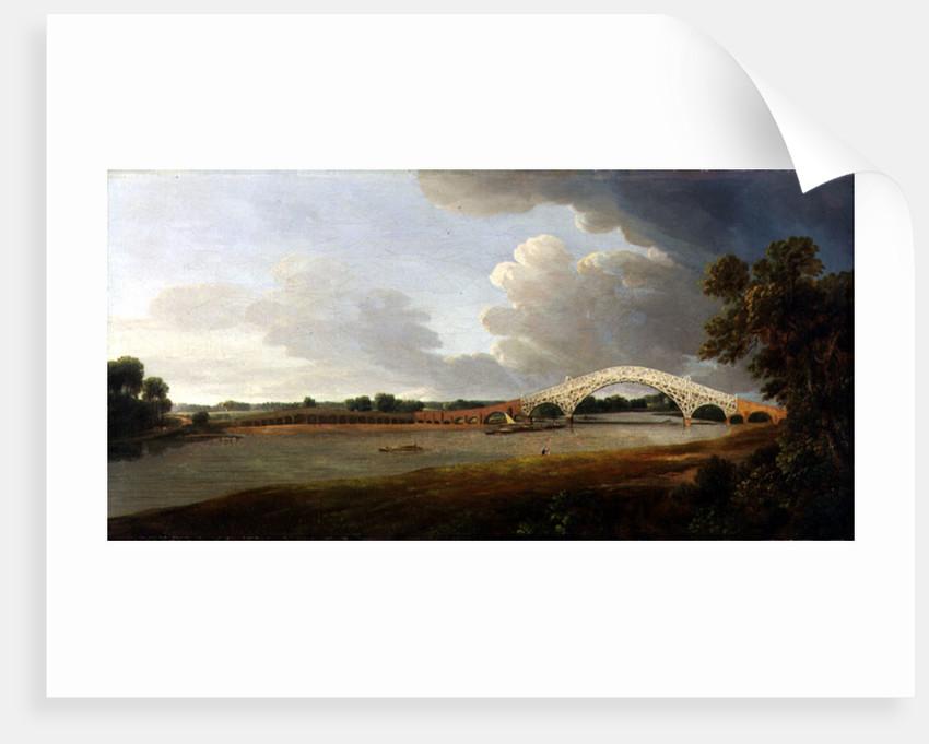 Old Walton Bridge by Francis Towne