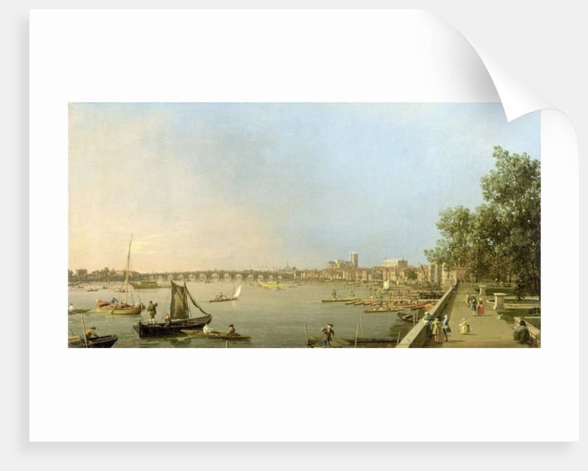 The Thames from the Terrace of Somerset House, looking upstream Towards Westminster and Whitehall by Canaletto