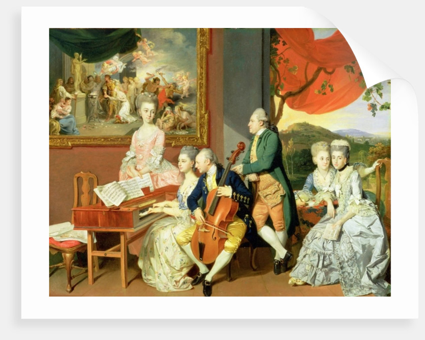 George, 3rd Earl Cowper, with the Family of Charles Gore by Johann Zoffany