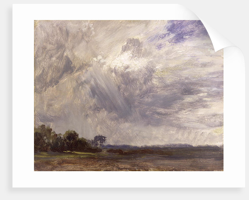 Landscape with Grey Windy Sky by John Constable