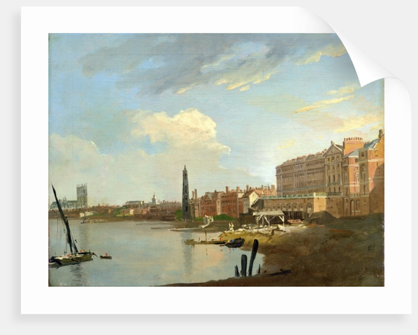 A Study of the Thames with the Final Stages of the Adelphi by William Marlow
