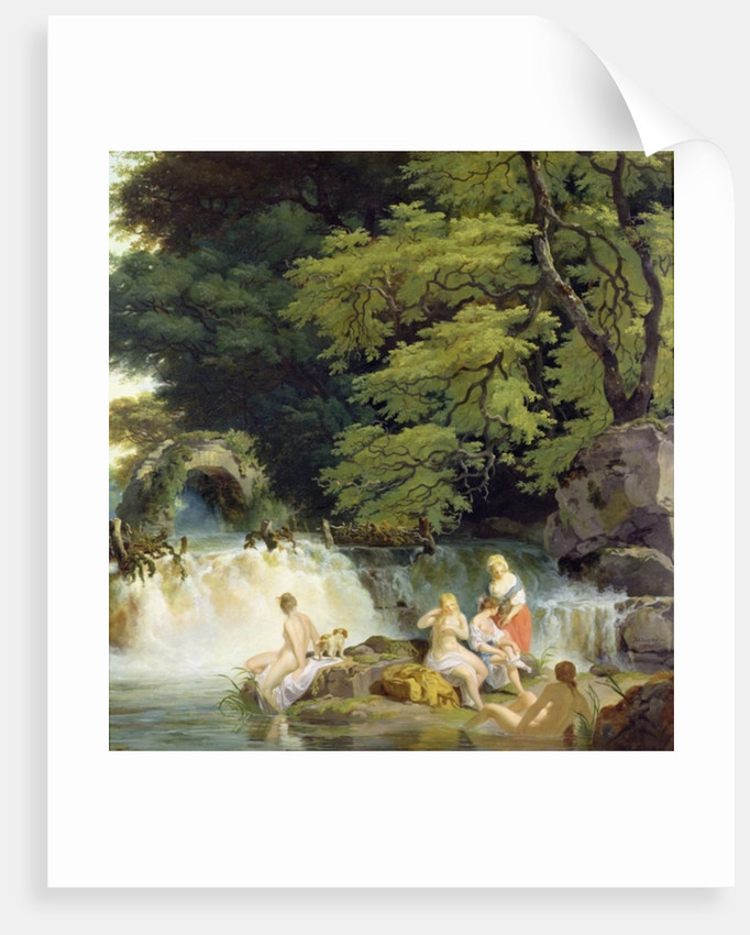 The Salmon Leap at Leixlip with Nymphs Bathing by Francis Wheatley