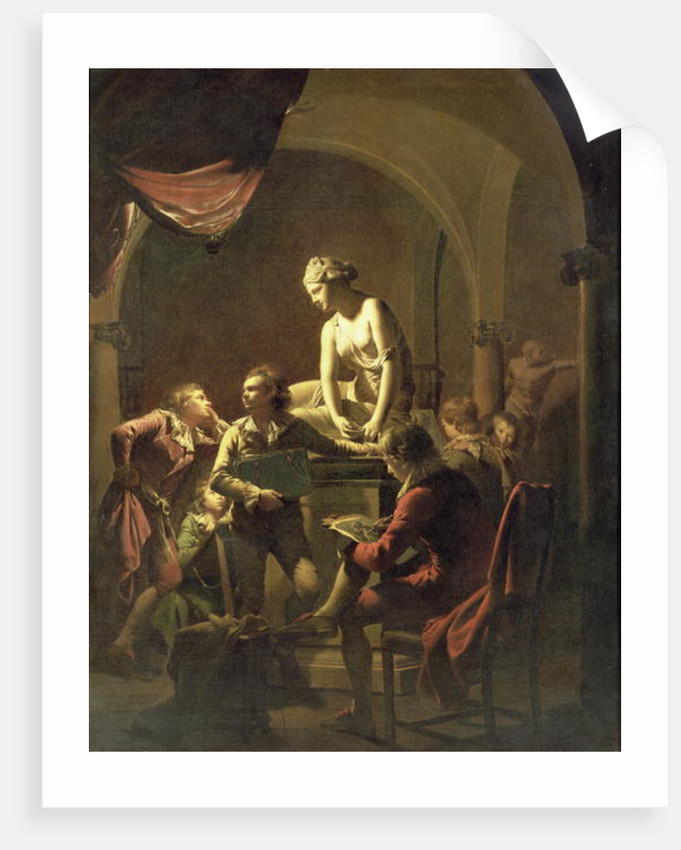 An Academy by Lamplight by Joseph Wright of Derby