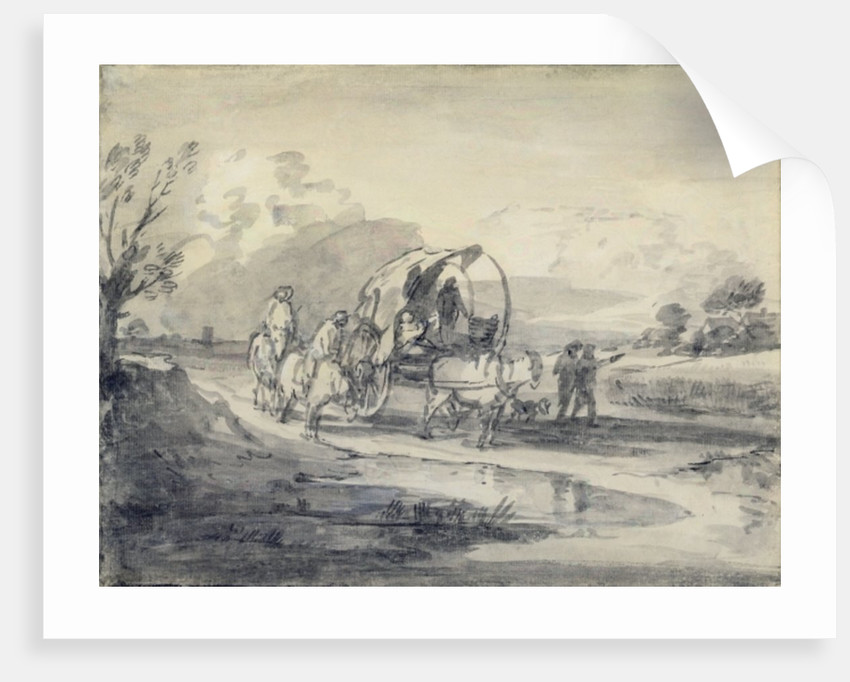 Open Landscape with Herdsman and Covered Cart by Thomas Gainsborough