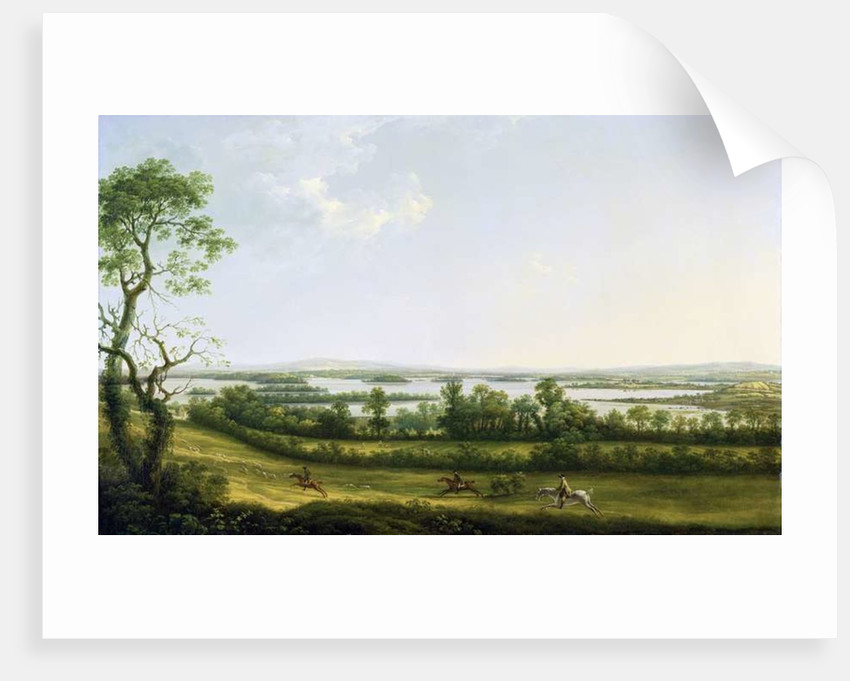 Lough Erne from Knock Ninney, with Bellisle in the Distance, County Fermanagh, Ireland by Thomas Roberts