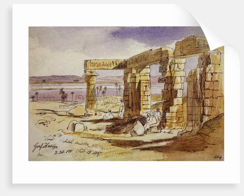 Garf Hoseyn, 2.30pm, 15th February 1867 by Edward Lear