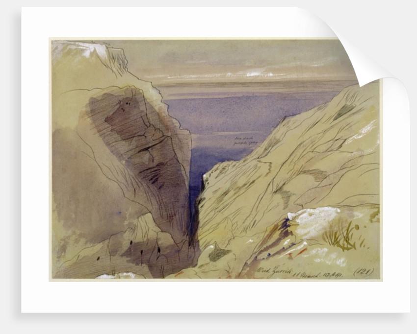 Wied Zurrik, Malta, 10 am, 11th March by Edward Lear