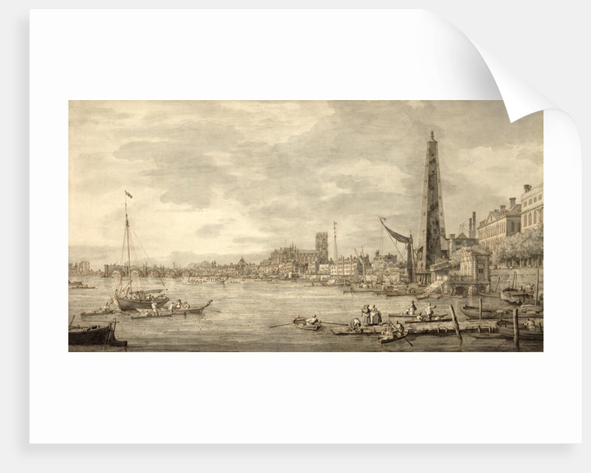 The Thames Looking towards Westminster from near York Water Gate by Canaletto