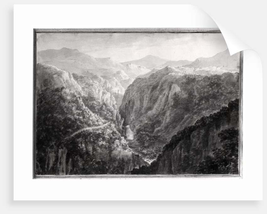 Scene from the Inn at Devil's Bridge with the Fall of the Rhydal by Amos and Green
