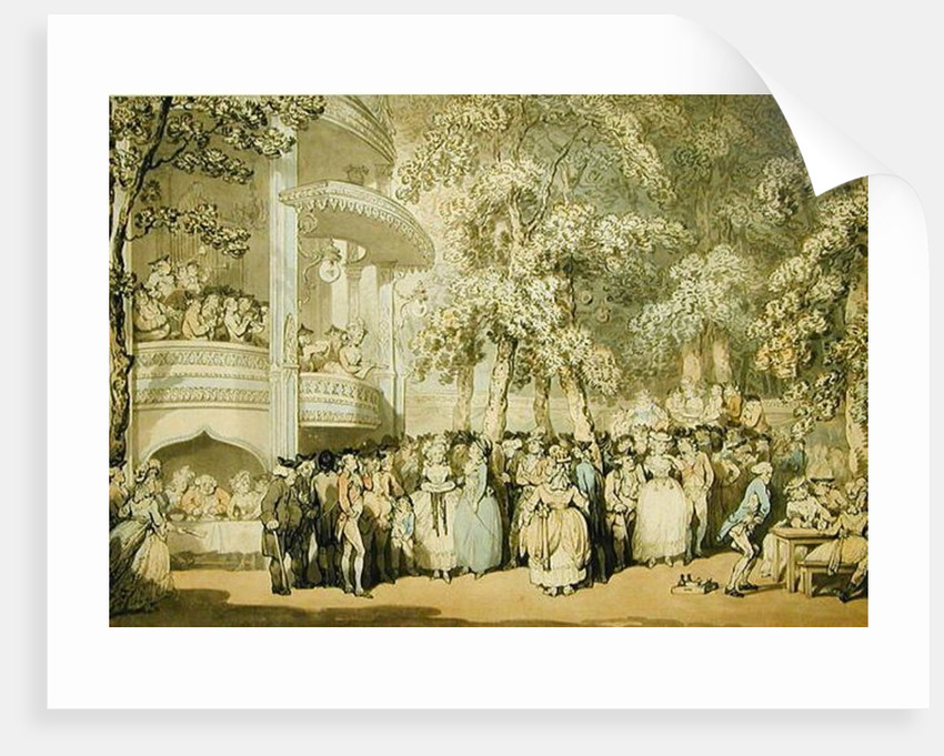 Vauxhall Gardens posters & prints by Thomas Rowlandson