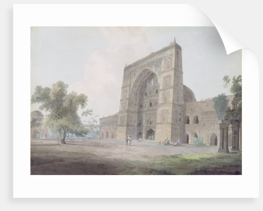 Main Entrance of the Jami Mosque, Jaunpur by Thomas & William Daniell
