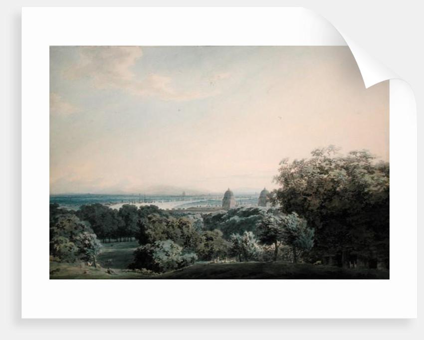 London from Greenwich Hill by John Robert Cozens