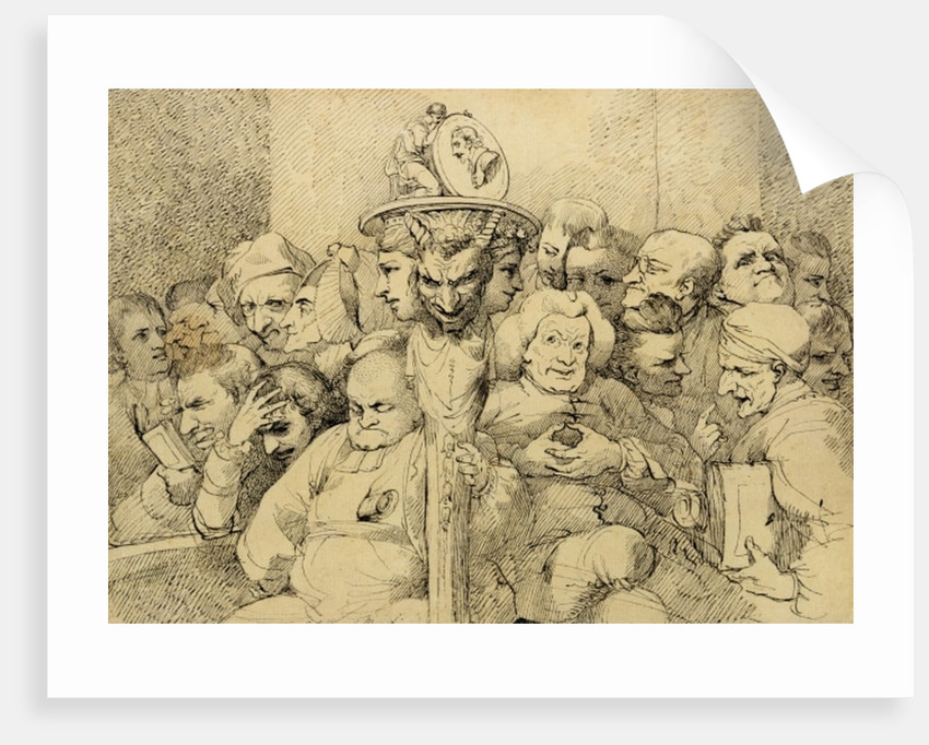 Literary Characters Assembled Around the Medallion of Shakespeare by John Hamilton Mortimer