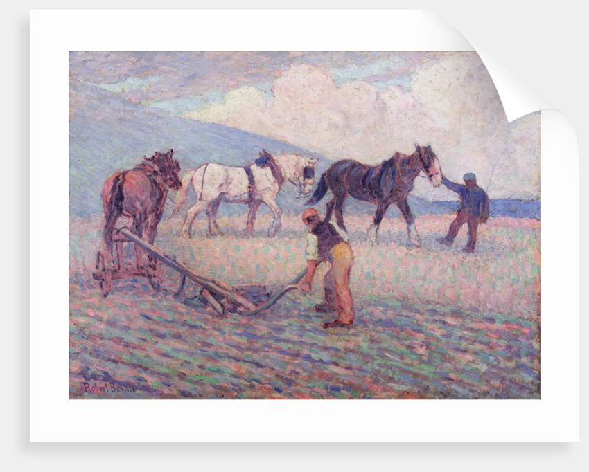 The Turn-Rice Plough by Robert Polhill Bevan