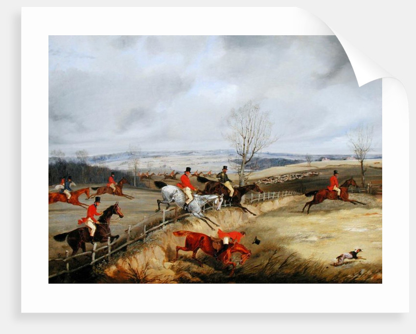 Hunting Scene, Drawing the Cover by Henry Thomas Alken