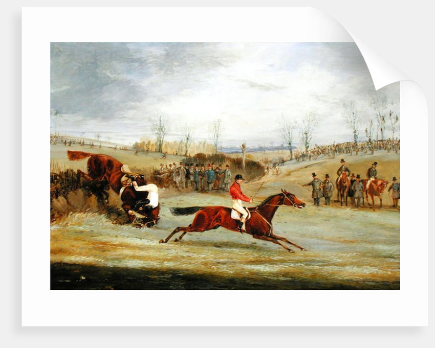 A Steeplechase, Another Hedge by Henry Thomas Alken